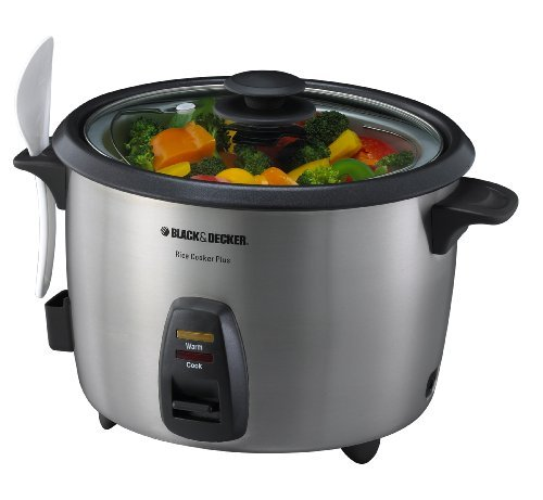 Black & Decker RC866 20-Cup Rice Cooker/Steamer, Silver