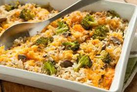 Recipe for Rice and Broccoli Casserole