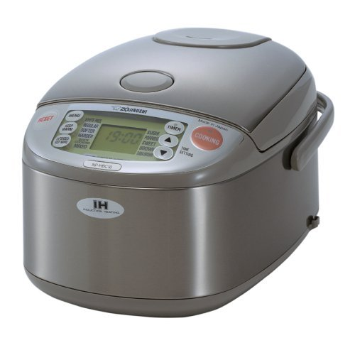 Zojirushi NP-HBC10 5-1/2-Cup Rice Cooker and Warmer with Induction Heating System, Stainless Steel