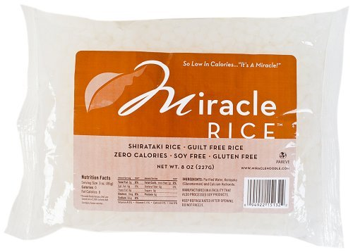 Miracle Noodle Shirataki Rice, 8-Ounce Packages (Pack of 6)