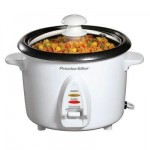 New Hamilton Beach Ps 8 Cup Rice Cooker Nonstick Bowl Dishwasher Safe For Fast Easy Cleanup