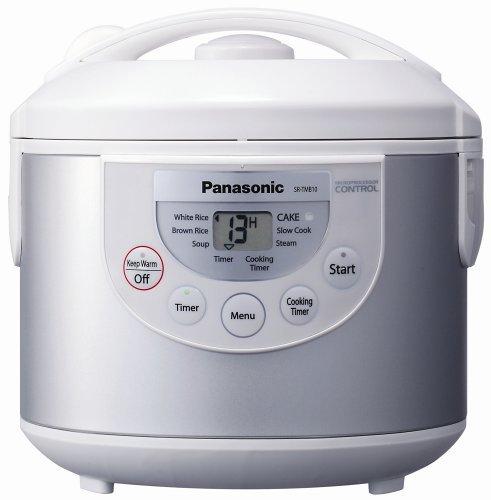 Panasonic SR-TMB10 5-1/2-Cup Rice Cooker/Warmer, Silver