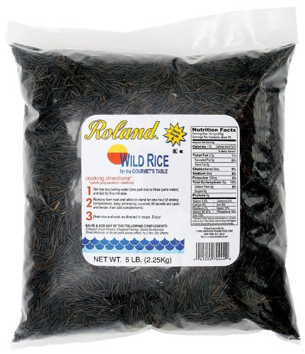 Roland Fancy Grade A Wild Rice, 5-Pound Bag