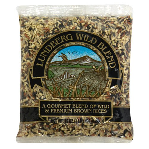 Lundberg Wild Blend, Gourmet Blend of Wild and Whole Grain Brown Rice, 16-Ounce Bags (Pack of 6)