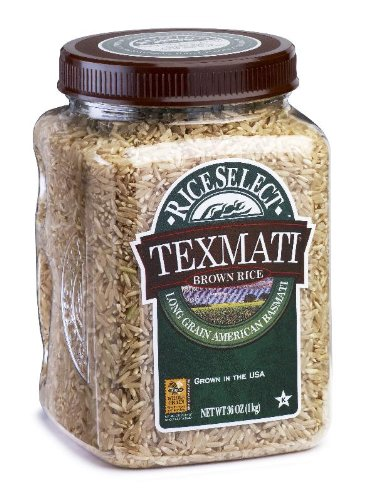 RiceSelect Long Grain Texmati Brown Rice, 36-Ounce Jars (Pack of 4)