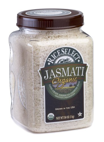RiceSelect Organic Jasmati Rice, 36-Ounce Jars (Pack of 4)